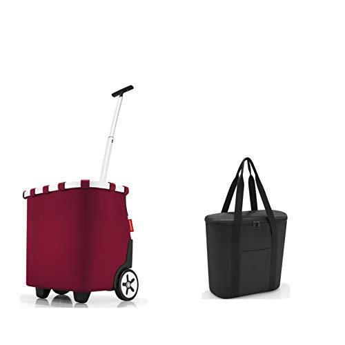 Juego de bolsas de la compra compuesto por Reisenthel carrycruiser/carrito de la compra y bolsa isotérmica Reisenthel (Dark Ruby)