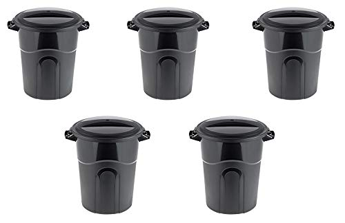 United Solutions 20 Gallon Outdoor Waste Garbage Bin (5 pack)