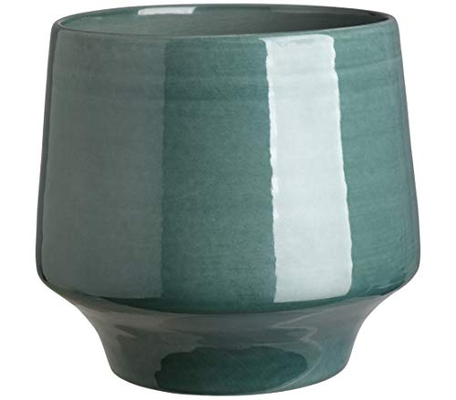 Dehner Übertopf Elsa, Ø ca.20 cm, Höhe ca. 20 cm, Keramik, petrol
