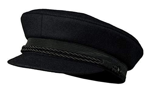 balke Herren Mütze Elbsegler Tuch Schiffermütze 33430071 black schwarz, Mützengröße:56