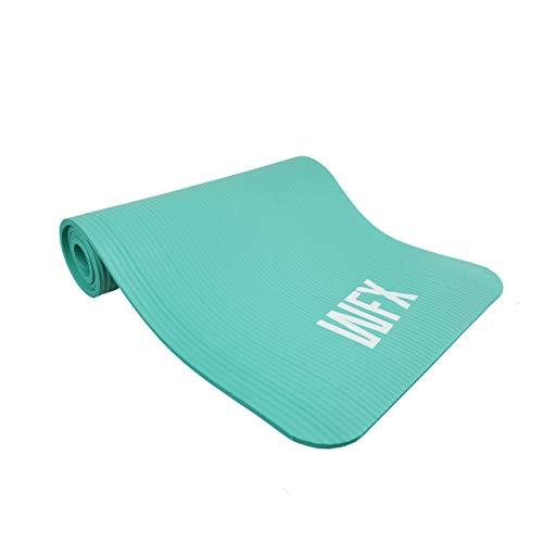 #DoYourFitness x World Fitness - Fitnessmatte Yogamatte »Sharma« 183 x 61 x 0,8 cm - rutschfest & robust - Gymnastikmatte ideal für Yoga, Pilates, Workout, Outdoor, Gym & Home - Türkis