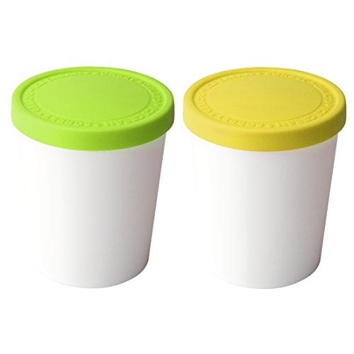 Tovolo Sweet Treats 2 Piece 1 Quart Pistachio and Lemon Tub Set