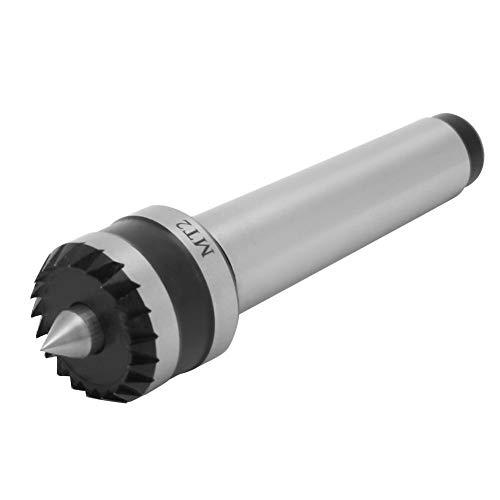 Fafeicy Centro de contrapunto, herramienta de torneado de madera de metal, utilizado en el torno con un contrapunto perforado de torno, precisión de 0,01 mm(MT2)
