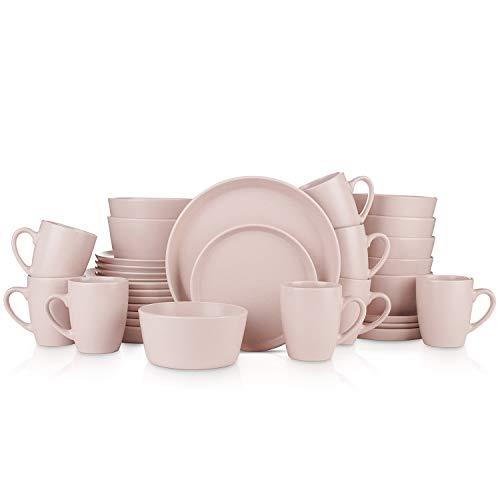 Stone Lain 32 Piece Stoneware Round Dinnerware Set Now $49.98 (Was $114.95)