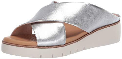 CC Corso Como Women's BILANKA Sandal, Soft Silver, 9.5 M US