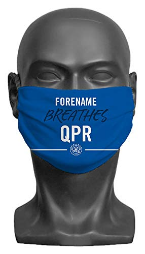 Personalised Queens Park Rangers FC Breathes Adult Face Mask- Large