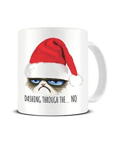 N\A Dason stürzt durch die NO Grumpy Cat Weihnachten lustige Neuheit Kaffeetasse Keramik Teetasse Chrismtas Geschenkidee 836633
