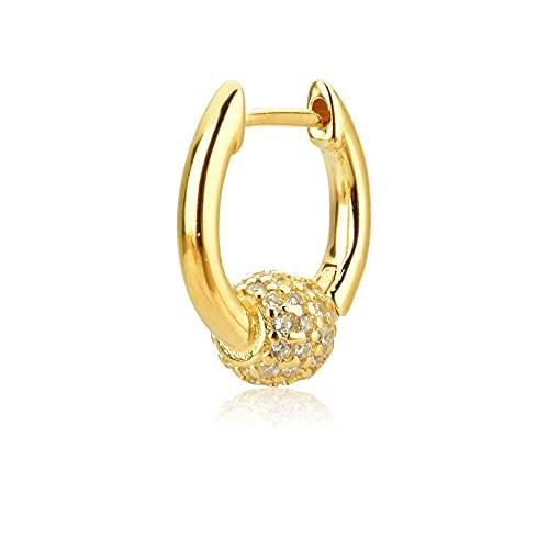 Pendientes Mujer Plata De Ley 925 Arco Iris Single Huggies Mujeres Aros Piercing Pendientes Colgantes Joyería para Rock Punk Jewelry Gold 2
