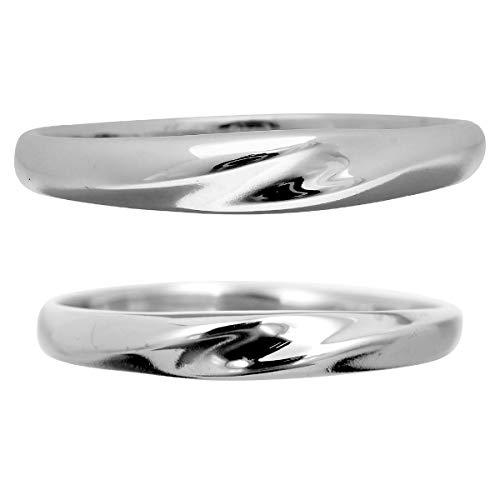 [ココカル]cococaru ペアリング シルバー リング2本セット マリッジリング 結婚指輪 日本製 (レディースサイズ2号 メンズサイズ11号)