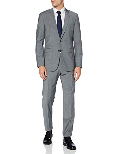 Strellson Premium Herren Allen-Mercer AMF Kostüm-Set, Medium Grey 035, 48