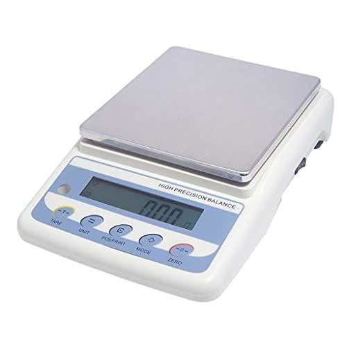 WZ Báscula Electrónica Alta Precisión 0,01G Balanza Electrónica Analítica Laboratorio Báscula Precisión Digital Tamaño La Sartén 200x180 Mm Peso Calibración (Size : 3000G/0.01G)