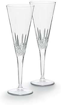 Vera Wang Wedgwood Duchesse 7-Ounce Crystal Toasting Flutes Pair