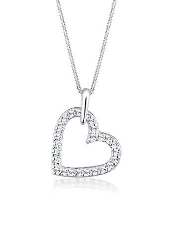 Collar de plata 925 con forma de corazón con cristales de Swarovski