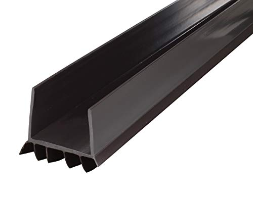 M-D Building Products 43337 M-D U-Shape Under Door Seal, 36 in L X 2-1/4 in W X 1-1/2 in H, 1-3/4 in Thick, Vinyl