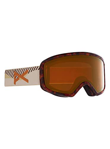 Anon Women's Deringer Goggle with Spare Lens and MFI Face Mask, Tort3 / Perceive Sunny Bronze