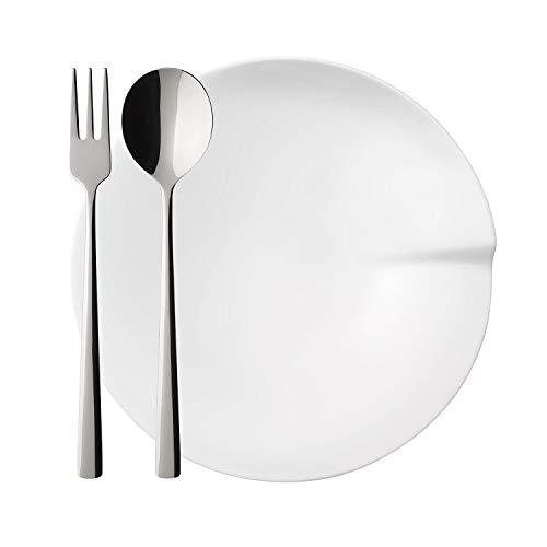 """Villeroy & Boch - Pasta Passion Pasta-Set, 4 tlg., speisen wie in """"Bella Italia"""", Premium Porzellan/Edelstahl 18/10, spülmaschinengeeignet , 4-er Set"""