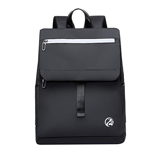 Large-Capacity Business Water-Repellent Backpack Male and Female College Students Business Computer Backpack Leisure USB Backpack Black