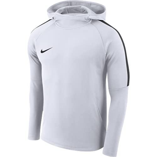 NIKE M Nk Dry Acdmy18 Hoodie Po Sweatshirt, Hombre, Blanco (White/Black), L, AH9608-100