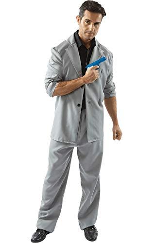 ORION COSTUMES Déguisement noir et gris de la série télé Deux Flics à Miami des années 80 pour hommes