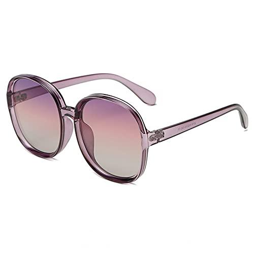 DAIDAICDK Gafas de Sol cuadradas de Gran tamaño para Mujer Gafas de Sol con Montura Grande Remache UV400 Accesorios para Coche al Aire Libre