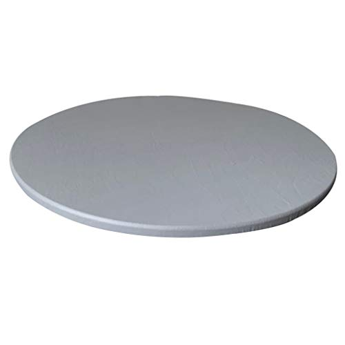 LOVIVER Mantel Impermeable Antideslizante Redondo Redondo Mantel 120cm - gris, 120cm máximo