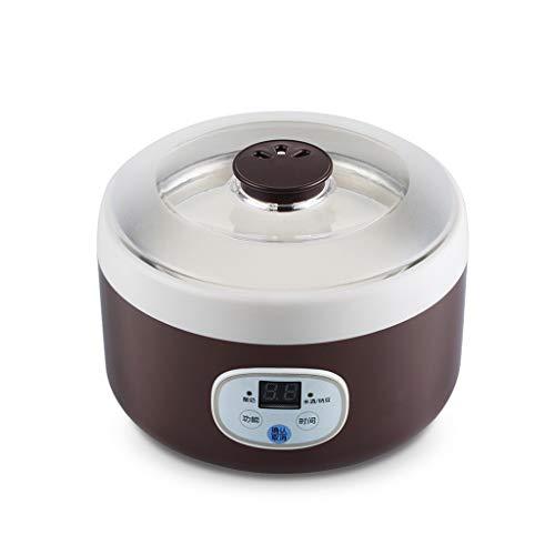 ZSQAI Joghurtmaschine - nach Hause automatische Ausschaltung der selbstgekühlten Reisnatto-Fermentationsmaschine der Mini-Tasse