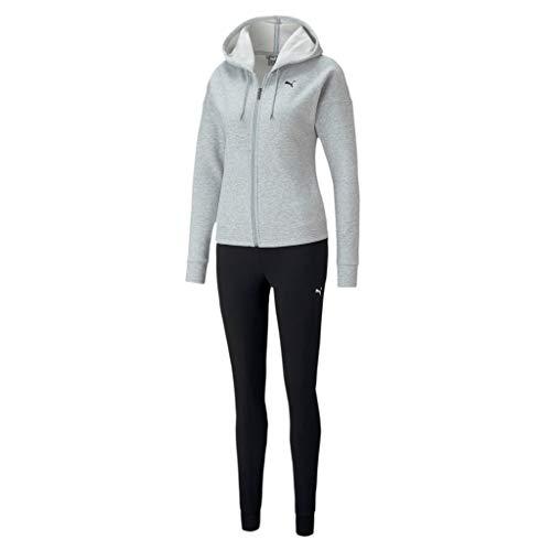 PUMA Damen Classic Hd. Sweat Suit FL cl Trainingsanzug, Light Gray Heather, XS