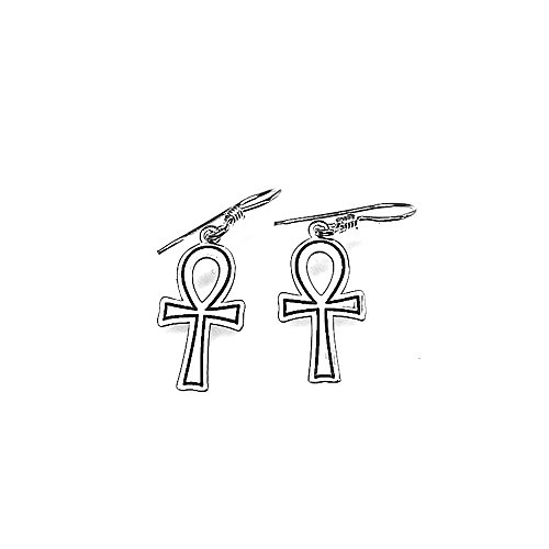Pendientes plata Ley 925m cruz egipcia 18mm. [AB1432]