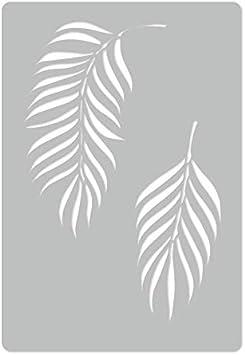PLANT PALM LEAF #2 //// Art Craft Mylar Template Reusable Plastic Wall Stencil //// 17.7 x 25.5 //// TROPICAL