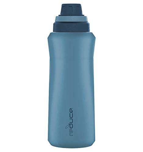 Reduce Water Bottle – Circuit Water Bottle, 32 oz – Stainless Steel, 48 Hours Cold – Quick Release Lid and Flip Up Handle Makes Hydration On The Go Easy – Blue Bay, Soft Touch Finish