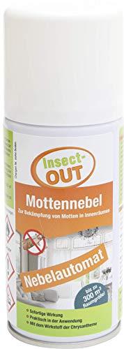 Insect-OUT Mottennebel 150 ml - Sofortwirkung, mottenfrei nach 1 Stunde, alle Mottenarten, für Textilien & Lebensmittel, mit dem Wirkstoff der Chrysantheme