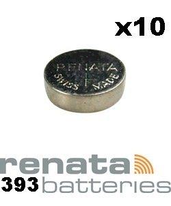 Renata 393 SR754W Knopfzelle / Uhrenbatterie Swiss, 1,55 V, 10 Stück
