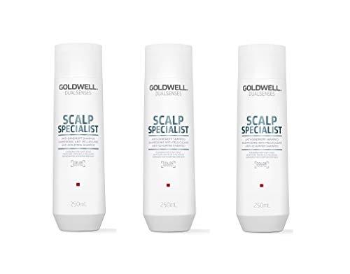 Goldwell Scalp Specialist Anti-Dandruff-Shampoo 3 x 250 ml Dualsenses gegen Schuppen GW