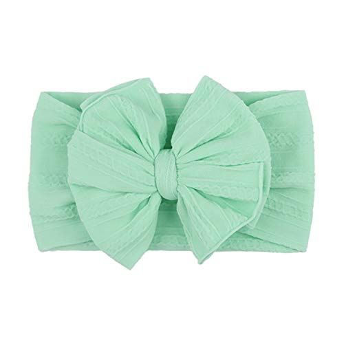 Bow Knot Wide Nylon Head Wraps Turban Girls Headwear Cute Princess Hair Accessories Baby Turban Kids Headwear Photo Prop,6