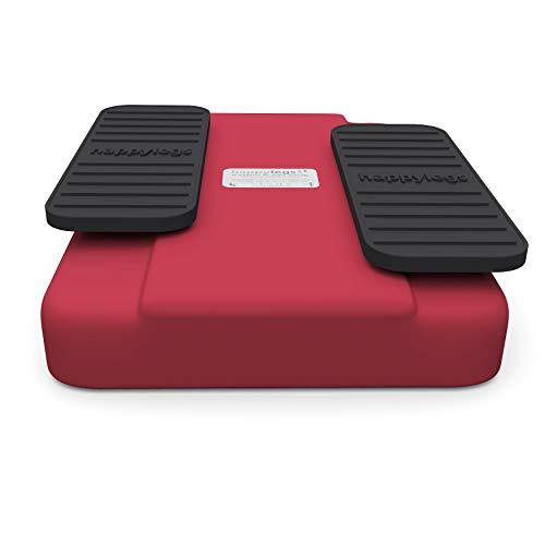 Happylegs - Ejercitador de Gimnasia Pasiva Piernas | La Máquina de Andar Sentado Perfecta para Rehabilitación y las Piernas Cansadas | Mejora la Circulación (Rojo)