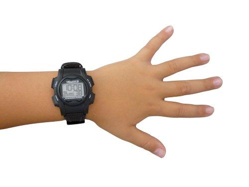 Pivotell Vibralite Mini Armbanduhr, Alarm, Schwarz