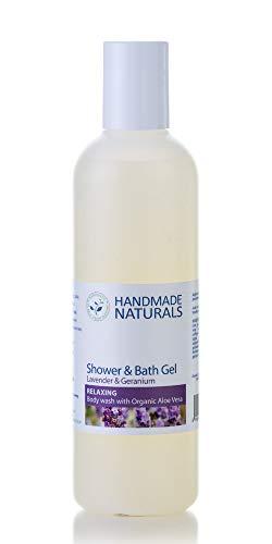 Handmade Naturals Gel douche/bain lavande et géranium