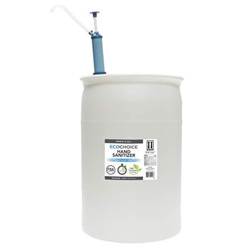 EcoChoice Unscented Hand Sanitizer Gel, FDA-Registered, 66% Alcohol, 30-Gallon Drum, 3840 Fl. Oz