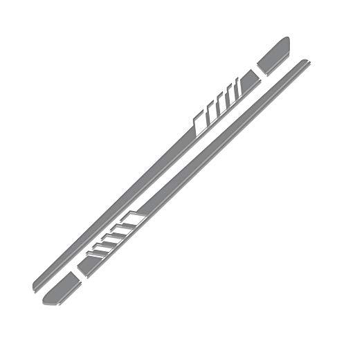 TAYDMEO Für Suzuki Swift SX4 Jimny, 2Pcs Car Side Stripe Aufkleber Film Car Tuning Car Side Karosserie Aufkleber Zubehör,Tür Taillenlinie