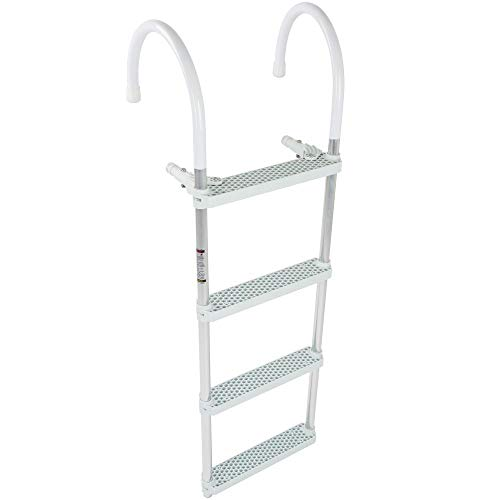 Rage Powersports 4-Step Portable Hook-on Boat Boarding Ladder