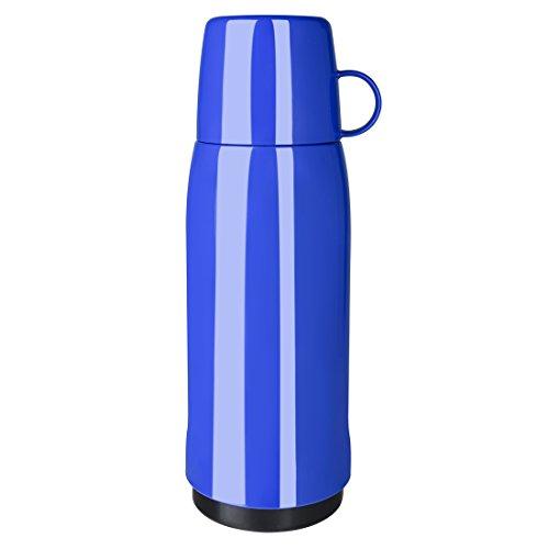 Emsa 502445 Isolierflasche, Mobil genießen, 750 ml, Schraubverschluss, Blau, Rocket