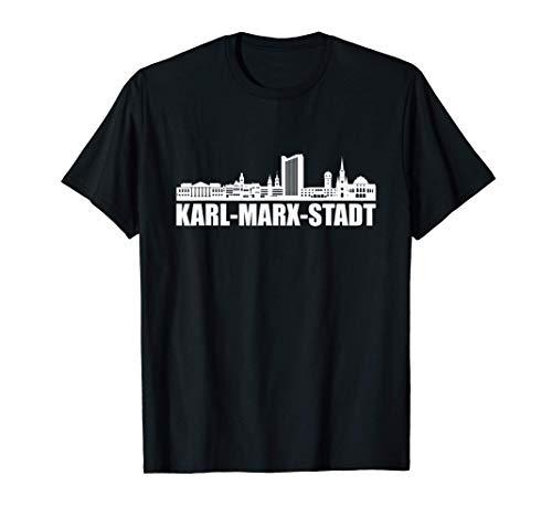 Chemnitz Chems Karl-Marx-Stadt Skyline Nischel Geschenkidee T-Shirt