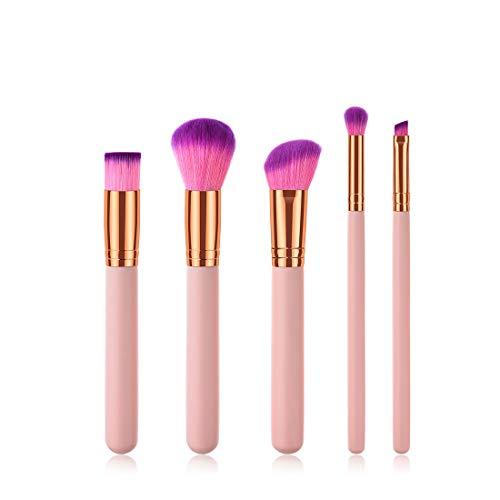 BERYLSHOP 5 Dans 1 pinceau de maquillage Set Outils de maquillage Trousse de toilette en nylon brosse cosmétiques Eye Brosse (Couleur : B4)