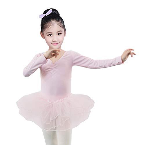 Gyratedream balletkleding meisjes balletjurk lange mouwen dans leotards met tutu 4-11 jaar oud kinderballetpak