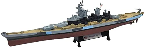 N-T Die Cast Warship Model 1/1000 Scale USS Missouri BB-63 USN 1944 Plastic Model Adult Toys And Gift 10 4Inch X 2Inch