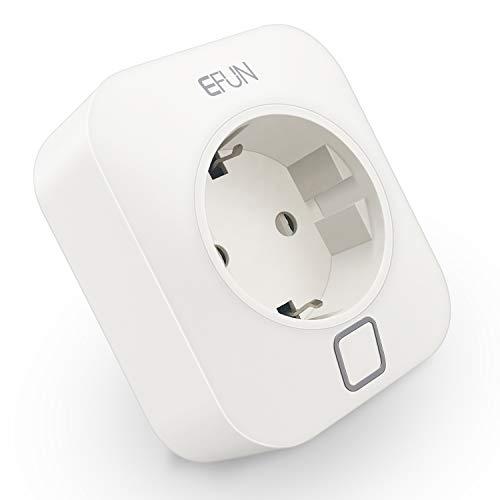 Preisvergleich Produktbild EFUN SH338A WiFi Smart Stecker Intelligente Plug WLAN Steckdose 1 Pack,  2.4GHz,  funktioniert mit Alexa und Google Assistant,  fernbedienbar,  mit Überstromsschutz,  feuerfestes Material