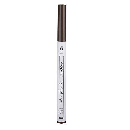 Wenkbrauwpotlood Vier vorken Langdurig vloeibaar wenkbrauwpotlood Waterdicht potlood 1g (grijs-zwart)