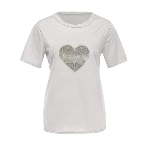 Allecne Familien Outfit Mutter Vater Kind Kleidung Freizeit Baumwolle Kurzarm Outfits Eltern Kind Matching T-Shirts Tops Papa und Sohn Mama und Tochter Sommer Drucken T-Shirt