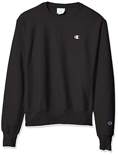 Champion LIFE Men's Reverse Weave Sweatshirt, Black, Large