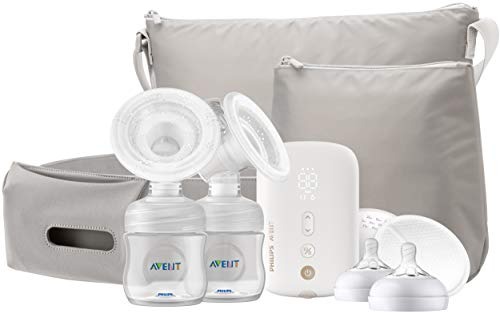 Philips AVENT Double Electric Breast Pump Advanced, with Natural Motion Technology, SCF394/61, White